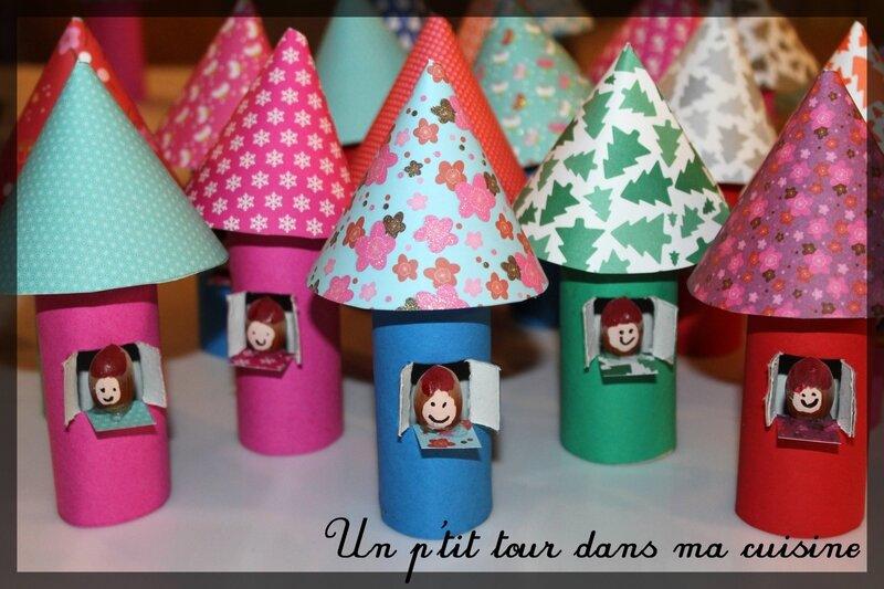 Marché Noël 1 maisons carton