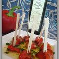 Anti pasti : poivrons rouges marinés à l'huile d'olive ail et persil
