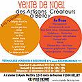 Marché des artisans créateurs noël à belley - créateurs de beau à l'atelier crapule factory 8 9 et 10 décembre 2017