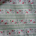 1790 longue chemise de nuit ancienne enfant magnifique tissu petites fleurs