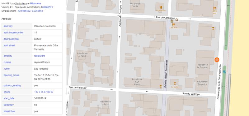 Les Vedettes sur OpenStreetMap (Web, avril 2019)