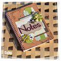 Cahier de notes scrappé