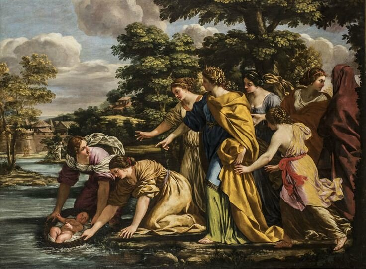 Giacinto Gimignani, Finding of Moses, oil on canvas