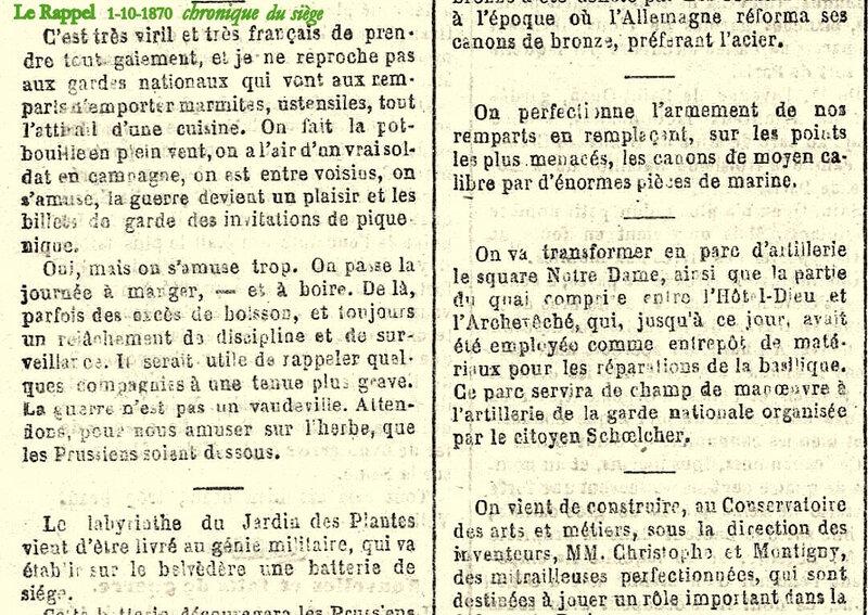 1870 1 10 le Rappel chronique