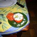 33°/ que faire avec des tomates et des oeufs?