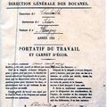 Document Enregistrant le passage à la Douane