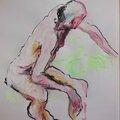 dessin peinture tableau de nu homme modèle vivant (12)