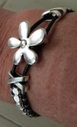Bracelet macramé métal Zamak (21a)