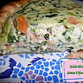 Quiche chèvre saumon épinards