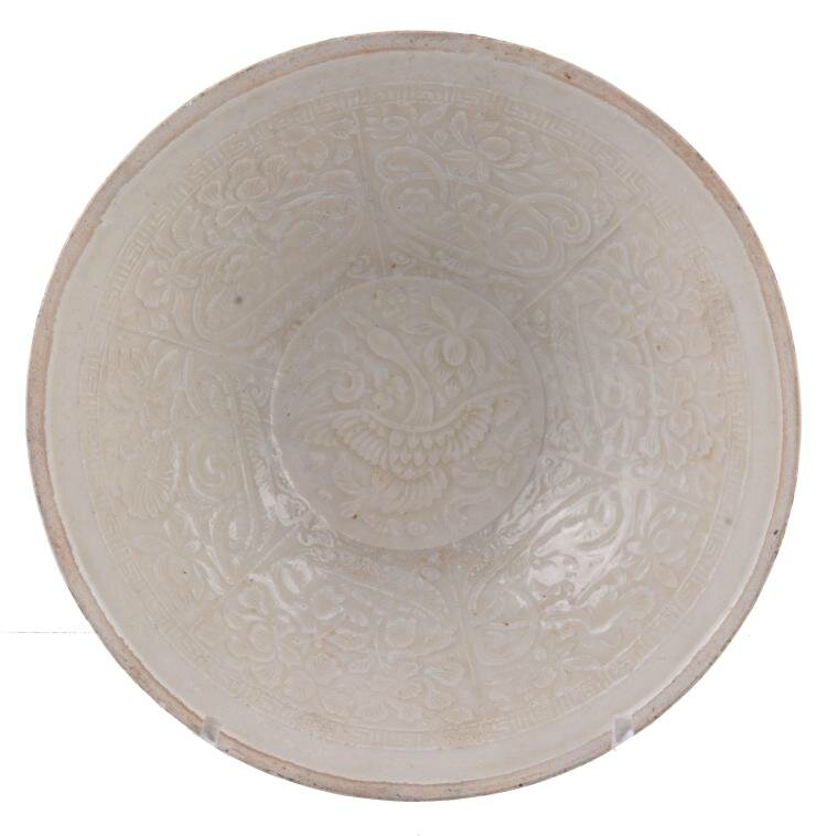 A moulded Qingbai 'Goose' bowl, Southern Song Dynasty or early Yuan Dynasty