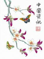 peinture-japonaise-papillon-fleur-cerisier
