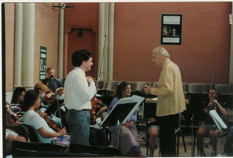 En répétition avec Yehudi Menuhin