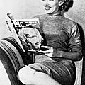 Février 1952 marilyn lit pic