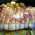 Roti de porc aux mirabelles