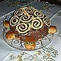 Gâteau d'anniversaire: tortue