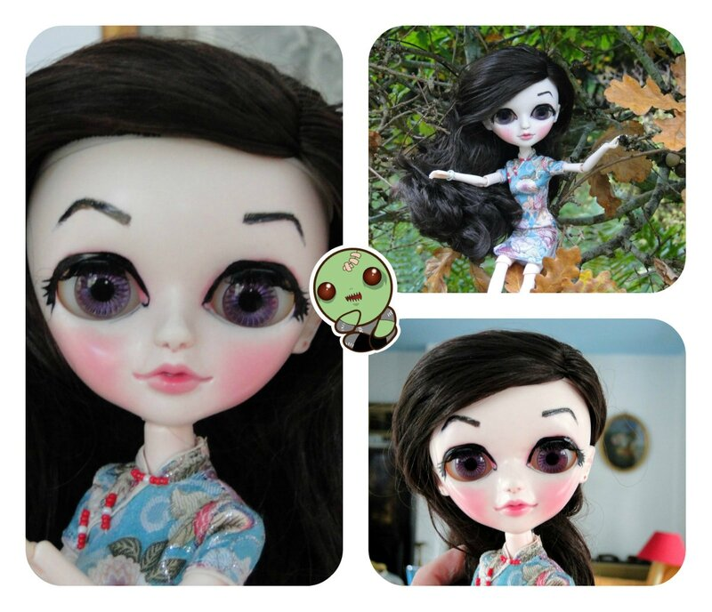 collagebeautiful TANGKOU doll blythe ad pullip