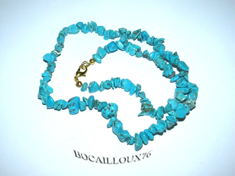 COLLIER HOWLITE TURQUOISE 2