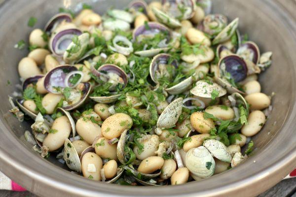 salade haricots lingos palourdes blog chez requia cuisine et confidences