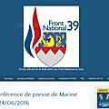 Le site du fn39 change d'adresse
