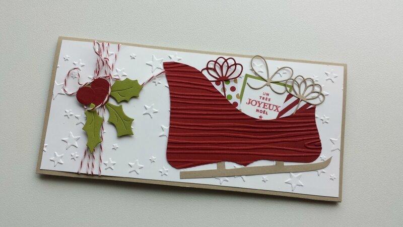 Un porte chèque pour Noël   Scrappartage