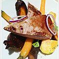 Canard et légumes anciens, sauce au vin express au bouillon de volaille ariaké !