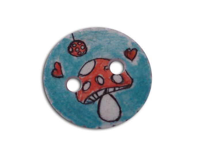 bouton-bleu-champignon-personnalisable-bleu