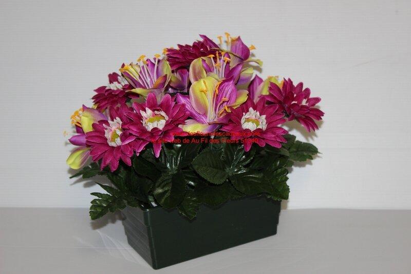 jardinière de fleurs tissu pour les Rameaux (4)