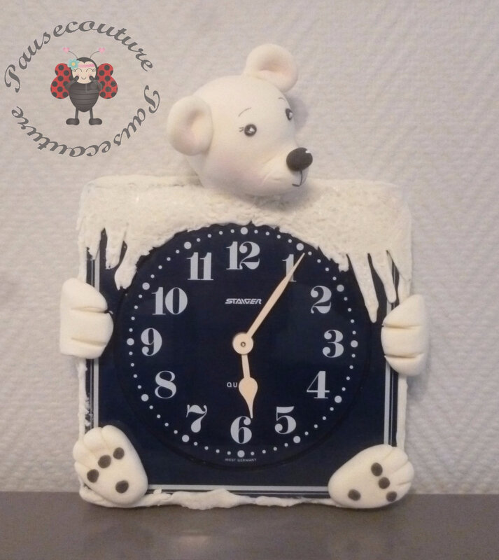 horloge murale ours polaire (1)