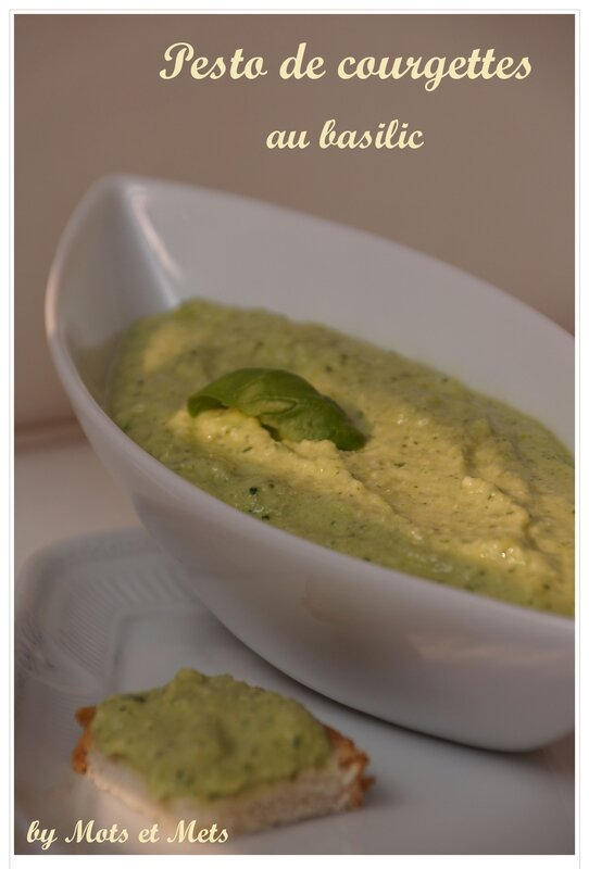 Pesto de courgettes 1