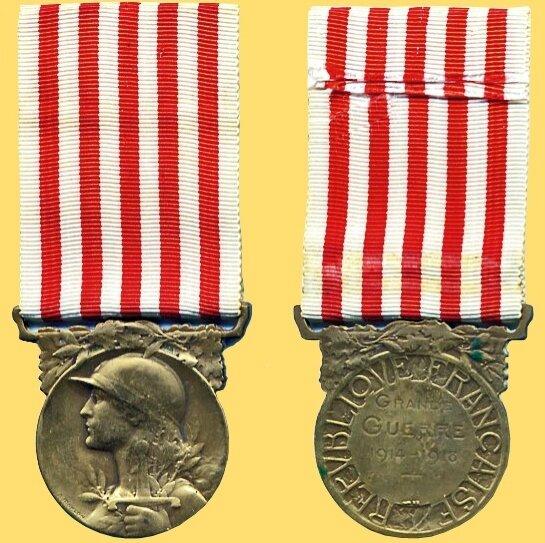 Médaille commemorative 1ère Guerre Mondiale