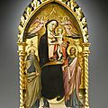 Giovanni dal ponte (giovanni di marco) (1385-1437 · florentine), madonna and child enthroned, crowned by two angels with saints