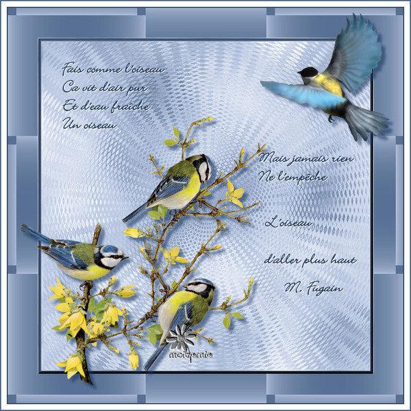 chanson l'oiseau de M