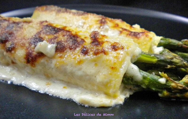 Cannelloni aux asperges vertes et au jambon de Parme 3