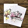 Deux cartes - dt le studio d.i.y