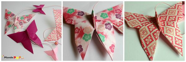 guirlande rose origamiL