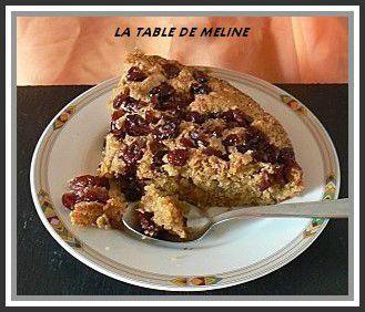 Gâteau aux airelles et spéculoos