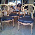 Ensemble de 4 chaises Louis Philippe2