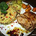 Grenadin de veau au vinaigre balsamique / au miel avec des kumquats