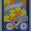 Carte puzzle pour une balade en vélo sur un nouvel itinéraire