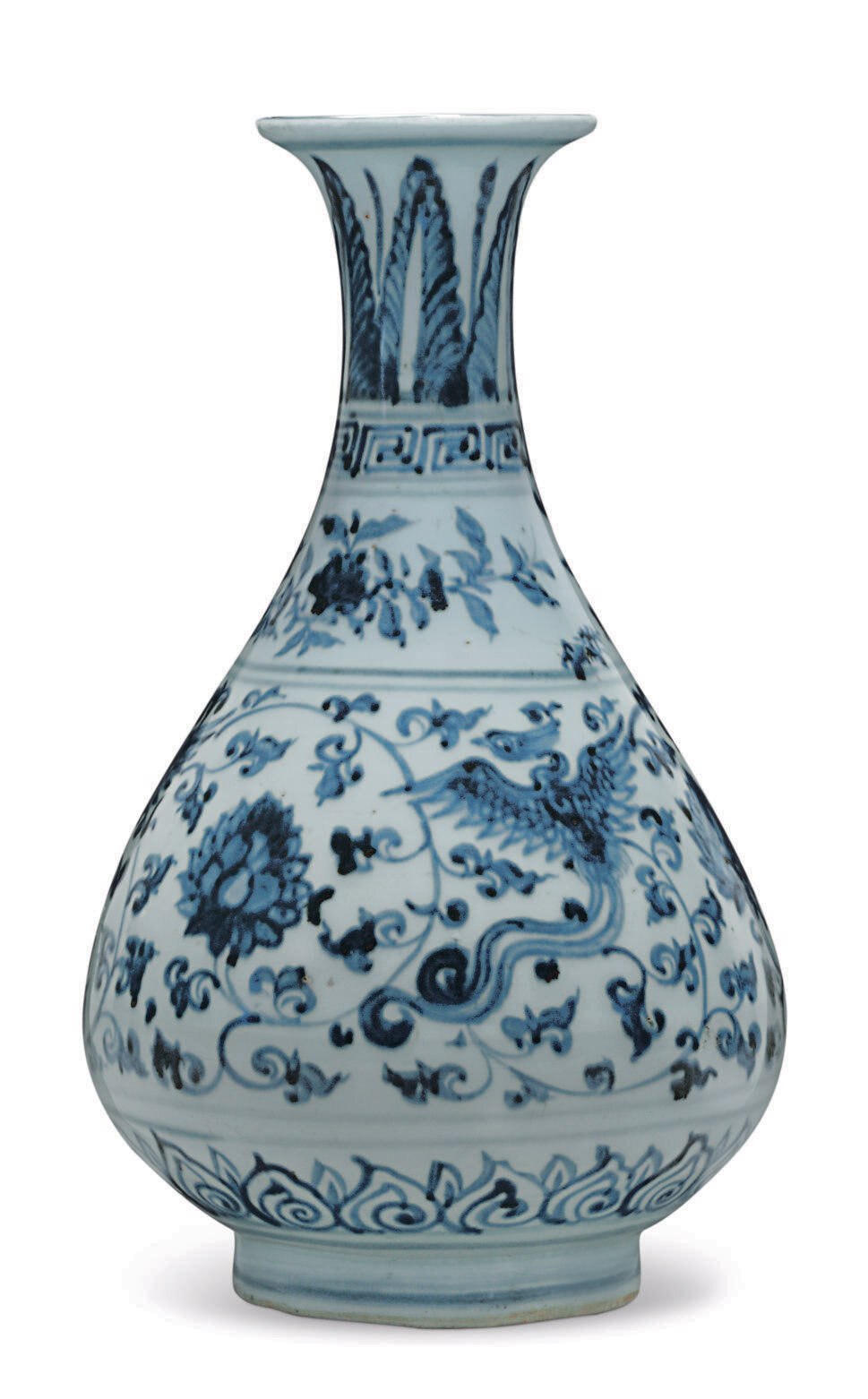 A blue and white bottle vase, yuhuchunping, Ming dynasty, 16th century