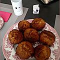 Muffins chocolat blanc, noix, sirop d'érable
