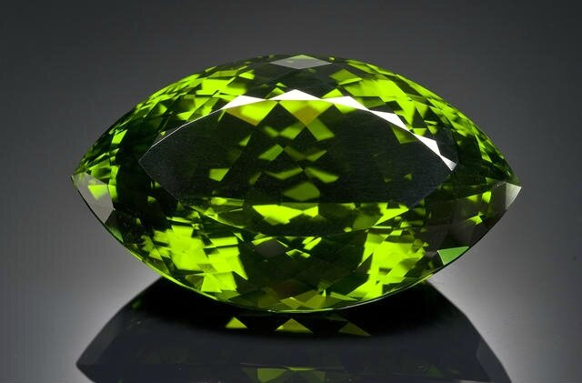 German-cut Stunning and Immense Peridot, Pakistan. Photo Bonhams.