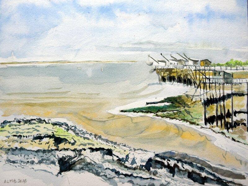 carrelets plage de la Grande Côte