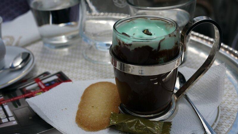 Le chocolat chaud à la menthe de chez Florian