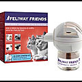Feliway friends - diffuseur + recharge phéromones pour chat 30 jours - ceva - + video