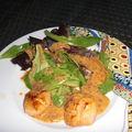 Salade asiatique aux coquilles st jacques