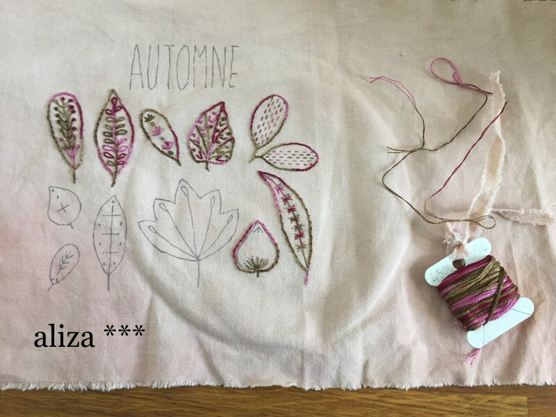 broderie automne