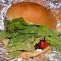 Sandwich au chorizo grillé et sandwich thon/pamplemousse
