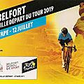 Tour de france 2019, belfort ville départ