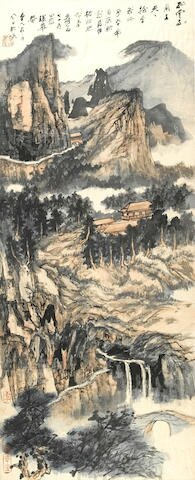 Mountain Retreat Among Clouds and Streams, 1972